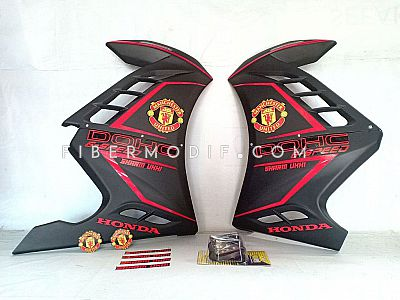Sayap All New CB150R - Black Matte Red Striped Manchester United Sharm Ukhi