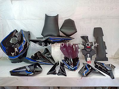Set Variasi Sporty NCB - Kontang CBR250RR + Crown V2 LED + Body Belakang Kit Custom CBR150R K45G