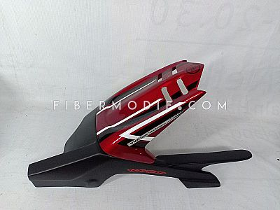 Spakbor Kolong Vixion Advance Lightning - Red Gloss Black n White Striped