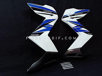 Sayap model Z CB150R Streetfire - White Gloss Blue-Black Strip PGM-FI