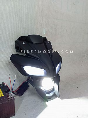 Headlamp MT15 Custom Universal Motorsport - Totally Black Matte