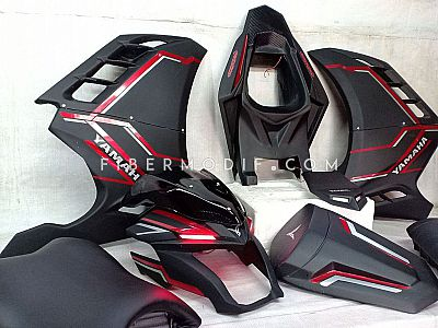 [Part Total Sport Vixion R] Body Belakang Custom + Topeng alis LED + Fairing model FI