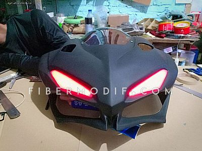 Cover Headlamp CBR150R K45G K45N model CBR250RR + Winglet Custom - Totally Black Matte